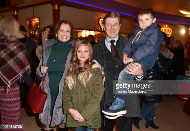 Horst Kummeth and his wife Eva Kummeth with their grandchildren attend the Circus Krone Premiere at Circus Krone on December 25, 2018 in Munich,...