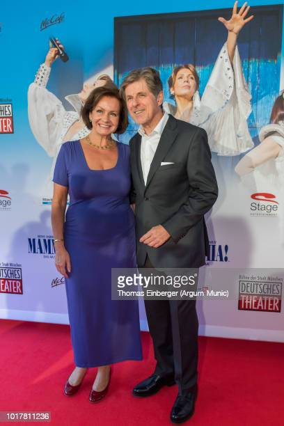 Horst Kummeth with his wife Eva at the 'MAMMA MIA!' musical premiere at Deutsches Theatre on August 16, 2018 in Munich, Germany.