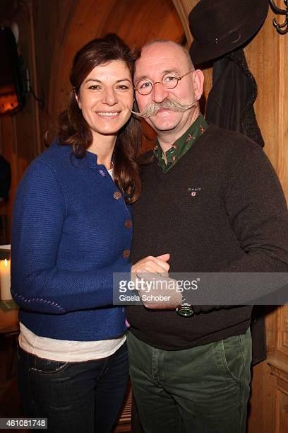 Horst Lichter and his wife Nada during the NeujahrsKarpfenessen in Hotel zur Tenne on January 06 2015 in Kitzbuehel Austria