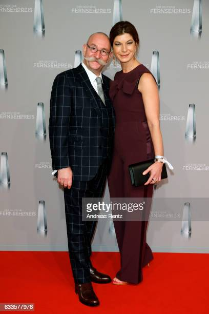 Horst Lichter and his wife Nada Lichter attend the German Television Award at Rheinterrasse on February 2 2017 in Duesseldorf Germany