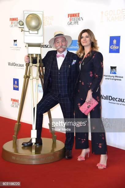 Horst Lichter and his wife Nada Sosinka attend the Goldene Kamera on February 22 2018 in Hamburg Germany