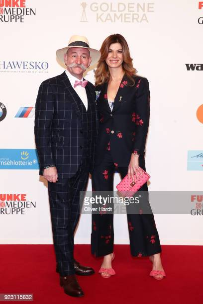Horst Lichter and his wife Nada Sosinka attends for the Goldene Kamera on February 22 2018 in Hamburg Germany