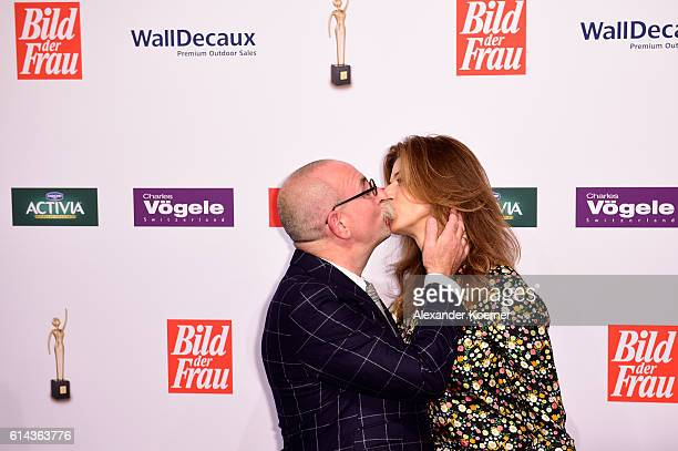 Horst Lichter and Nada Lichter attend the red carpet at the 'Goldene Bild der Frau' award at Stage Theater on October 13 2016 in Hamburg Germany