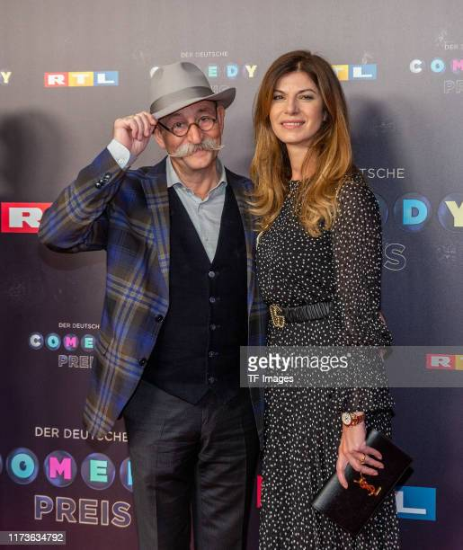 Horst Lichter and Nada Lichter pose for the 23rd annual German Comedy Awards at Studio in Koeln Muehlheim on October 2 2019 in Cologne Germany
