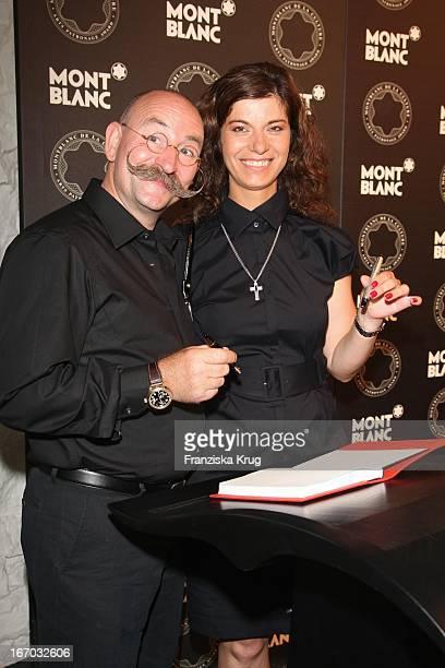 Horst Lichter Und Freundin Nada Sosinka Bei Der Verleihung Des Montblanc De La Culture Arts Patronage Award 2008 Im Prototyp In Hamburg