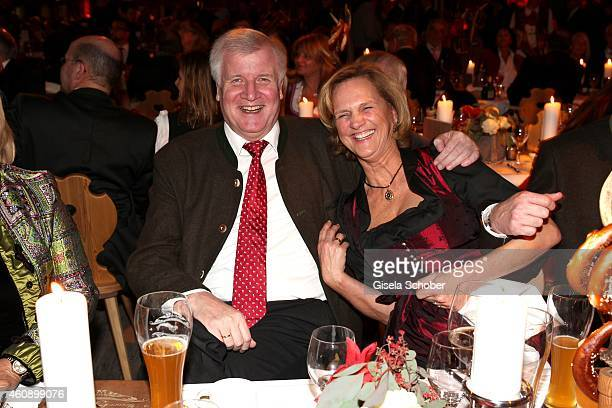 Horst Seehofer and his wife Karin during the 75th birthday party of Werner Brombach on December 29, 2014 in Erding, Germany.