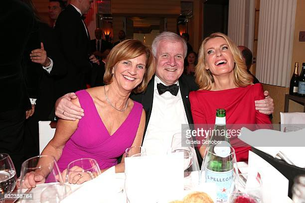 Horst Seehofer and his wife Karin Seehofer and Maria Furtwaengler during the 44th German Film Ball 2017 party at Hotel Bayerischer Hof on January 21...