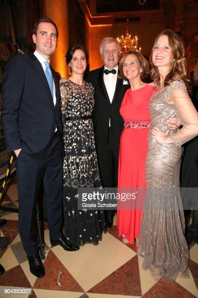 Horst Seehofer and his wife Karin Seehofer daughter Susanne daughter Ulrike and son Andreas Seehofer during the new year reception of the Bavarian...