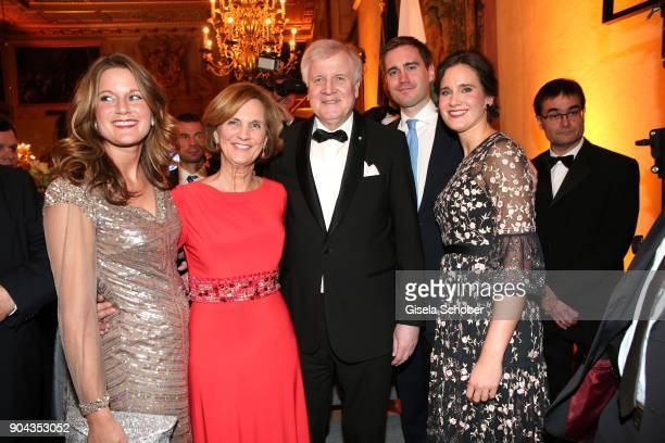 Horst Seehofer and his wife Karin Seehofer, daughter Susanne Seehofer , daughter Ulrike Seehofer and son Andreas Seehofer during the new year...
