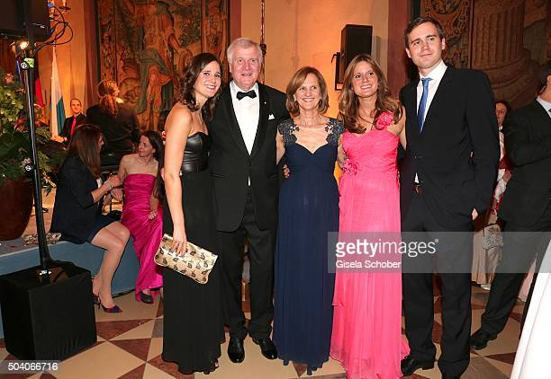 Horst Seehofer and his wife Karin Seehofer , daughter Ulrike , daughter Susanne and son Andreas Seehofer during the new year reception of the...