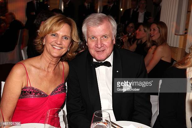 Horst Seehofer and his wife Karin Seehofer during the German Filmball 2015 at Hotel Bayerischer Hof on January 17 2015 in Munich Germany