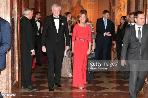 Horst Seehofer and his wife Karin Seehofer during the new year reception of the Bavarian state government at Residenz on January 12 2018 in Munich...
