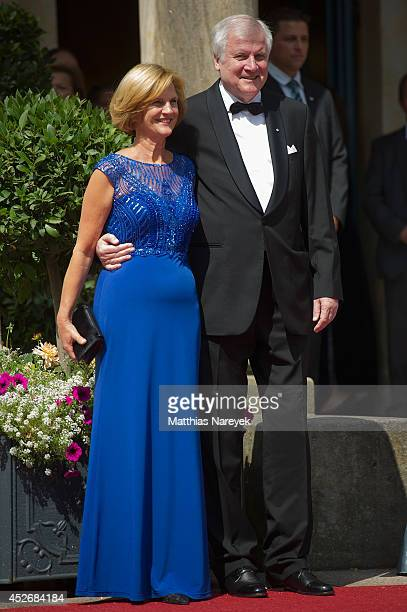 Horst Seehofer and Karin Seehofer attend the Bayreuth Festival Opening 2014 on July 25, 2014 in Bayreuth, Germany.