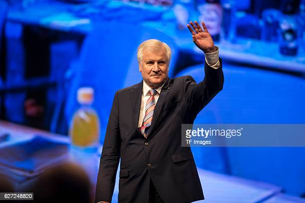 Horst Seehofer, Bavarian Prime Minister gestures during at the annual CSU party congress on November 04, 2016 in Munich, Germany.