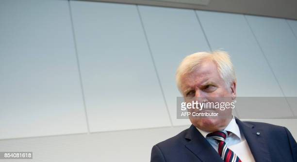 Horst Seehofer leader of the Christian Social Union party which is the Bavarian ally of Chancellor Merkel's conservative Christian Democratic Union...