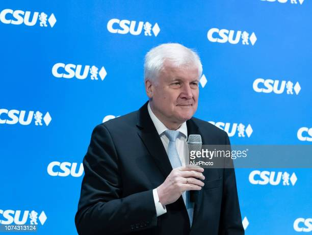 Horst Seehofer opening the board meeting The Christian Social Union holds a board meeting in which they discuss and plan the next party congress in...