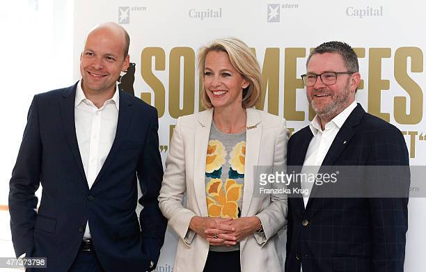 Horst von Buttlar Julia Jaekel and Christian Krug attend the STERN And CAPITAL Summer Party on June 16 2015 in Berlin Germany