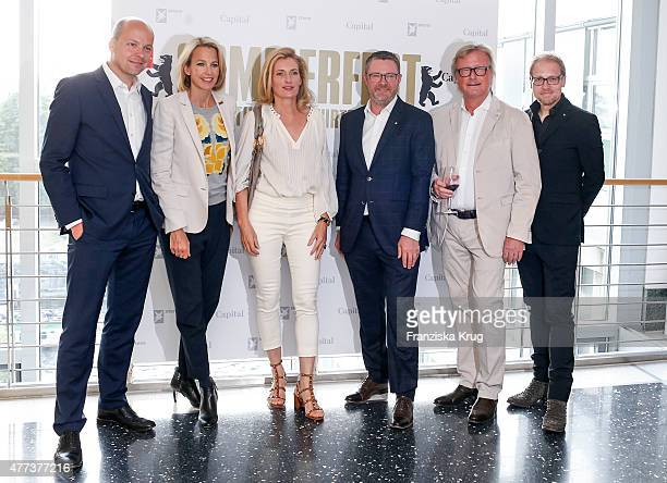 Horst von Buttlar Julia Jaekel Maria Furtwaengler Christian Krug HansUlrich Joerges and Jens Koenig attend the STERN And CAPITAL Summer Party on June...