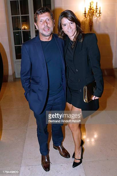 Hortense d'Esteve and companion Director Pascal Duchene attend Lui Magazine Launch Party held at Foch Avenue in Paris at on September 3 2013 in Paris...