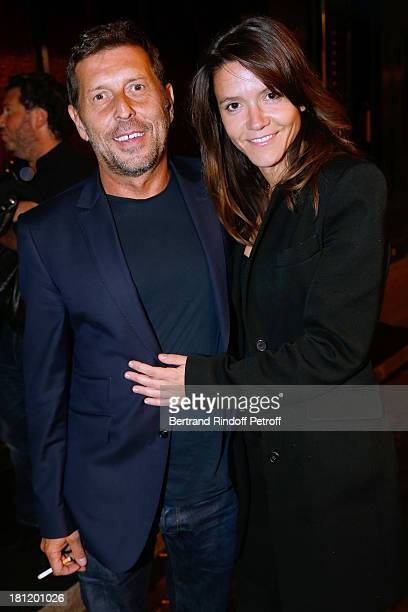 Hortense d'Esteve and companion Director Pascal Duchene attends 'AClub Party' at Castel on September 19 2013 in Paris France