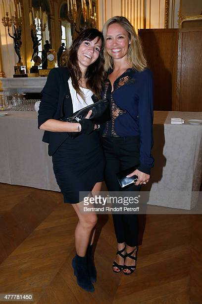 hortense d'Esteve and Lilou Fogli attend French minister of Culture and Communication Fleur Pellerin gives Medal of 'Knight of Arts and Letters' to...
