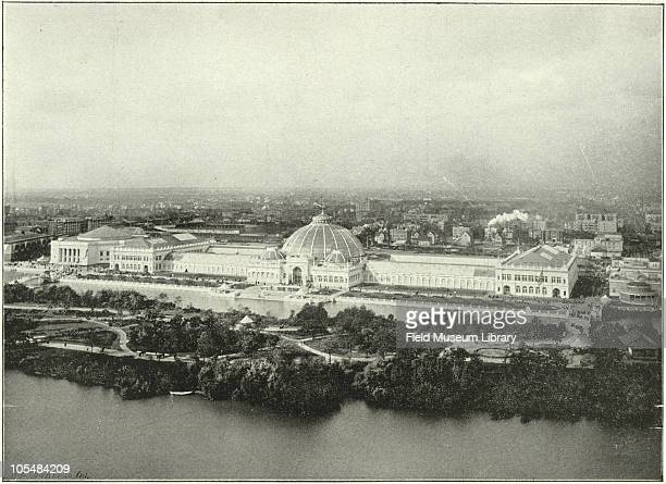 Horticultural Building Aerial view World's Columbian Exposition Chicago Illinois 1896