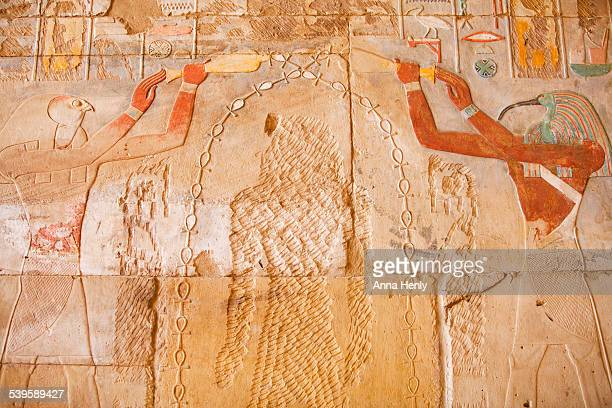 Horus and Thoth with vandalised Hatshepsut  image