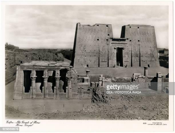 Horus temple in Edfu Egypt photograph by Lehnert and Landrock Cairo ca 1900