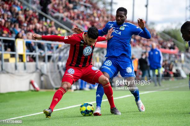 Hosam Aiesh of Ostersunds FK during the Allsvenskan match between Ostersunds FK and GIF Sundsvall at Jamtkraft Arena on June 01, 2019 in Ostersund,...