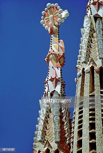 Hosanna and Excelsis on Steeple of the Sagrada Familia