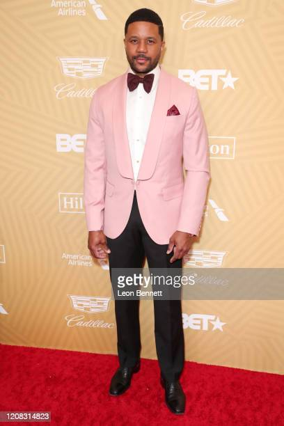 Hosea Chanchez attends American Black Film Festival Honors Awards Ceremony at The Beverly Hilton Hotel on February 23, 2020 in Beverly Hills,...