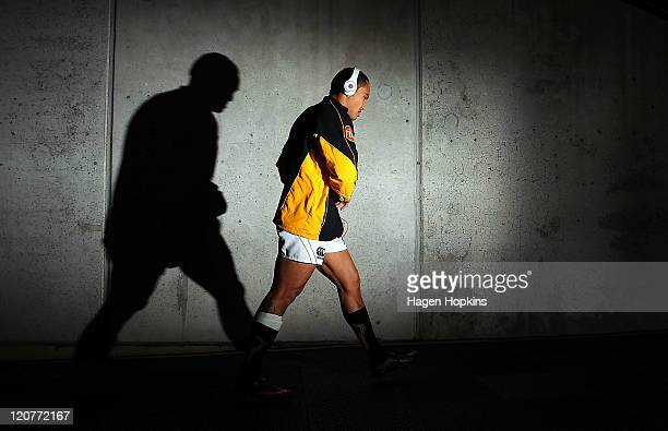 Hosea Gear of Wellington walks out of the players tunnel during the round 8 ITM Cup match between Wellington and Northland at Westpac Stadium on...