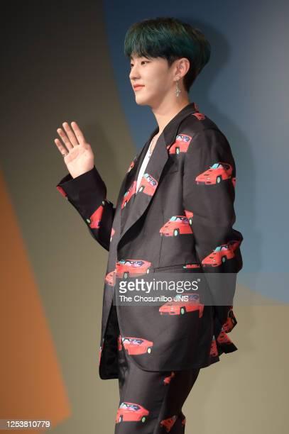 Hoshi of SEVENTEEN during SEVENTEEN's New Mini Album 'HENGGARAE' Showcase at Intercontinental Coex on June 22, 2020 in Seoul, South Korea.