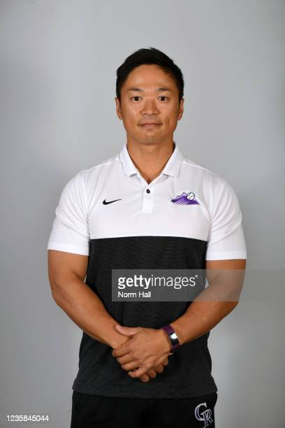 Hoshito Mizutani of the Salt Rive Rafters poses for a headshot during the 2021 Arizona Fall League Headshots at Salt River Fields at Talking Stick on...