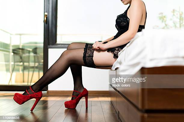 hosiery - suspenders stock pictures, royalty-free photos & images