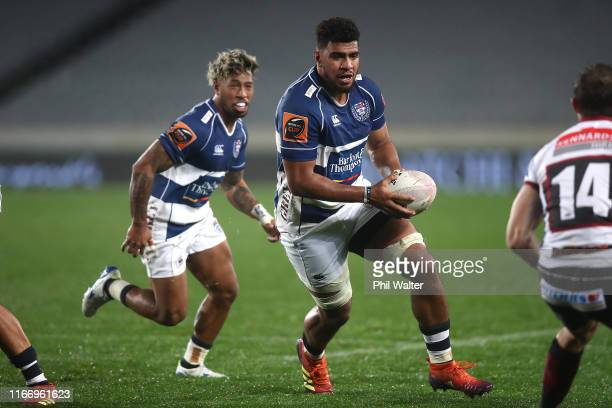 Hoskins Sotutu of Auckland during the Round 1 Mitre 10 Cup match between Auckland and North Harbour at Eden Park on August 09 2019 in Auckland New...