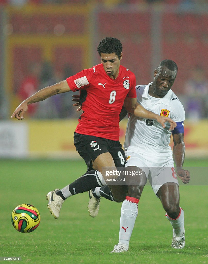 Hosny Abdrabou Abdel Moteleb of Egypt and Andre Macanga of Angola