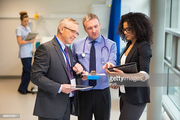 hospital administrator team - administrator stock pictures, royalty-free photos & images
