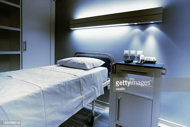 Hospital bed at night