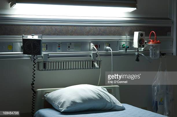 hospital bed  - hospital room stock photos and pictures
