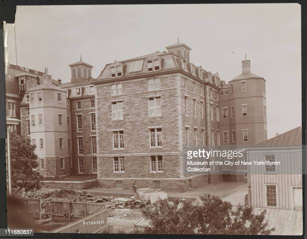 Hospital Bellevue Blackwell's Island old new buildings New York New York mid 1890s