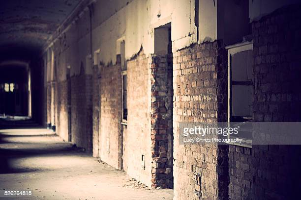 hospital corridor - lucy shires stock pictures, royalty-free photos & images