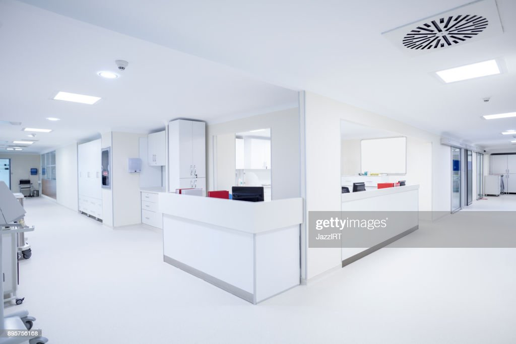 Hospital corridor : Stock Photo