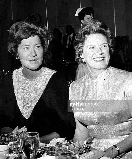 DEC 7 1964 Hospital Dinner Held at Hilton Hotel A duo at the General Rose Hospital dinner Saturday were Mrs Adolph Coors III left and Mrs Jansen Brown