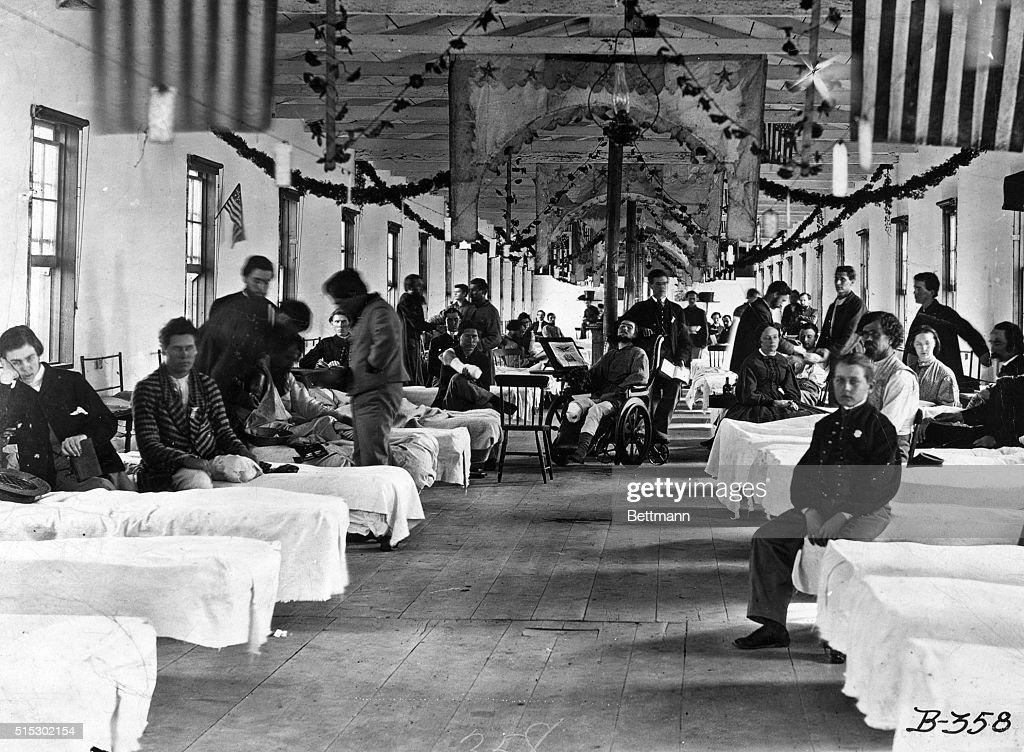 Hospital During the Civil War : News Photo