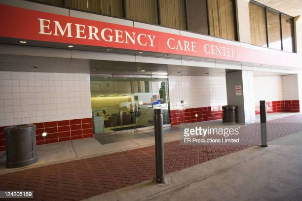 hospital emergency room entrance - hospital building stock photos and pictures
