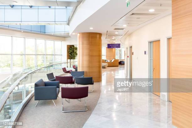 hospital floor interior - medical building stock pictures, royalty-free photos & images