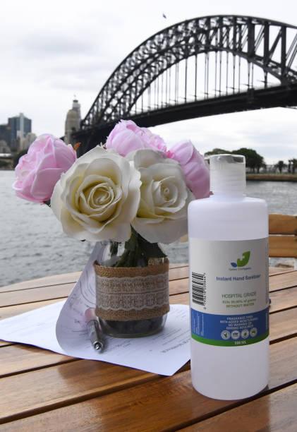 AUS: Couple Weds In Sydney During Coronavirus Crisis