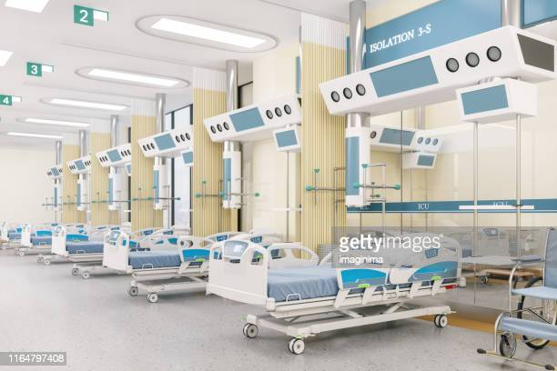 hospital intensive care unit - hospital ward stock pictures, royalty-free photos & images