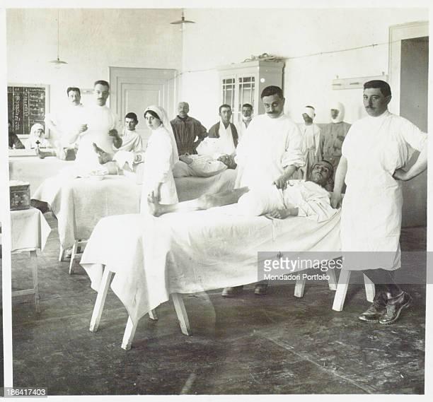 ARMY Hospital no 10 Cividale Italy Main dressing room 1916 Gelatine process Rome Central Museum of the Risorgimento